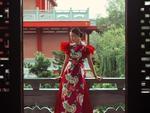 Talented female designer offers áo dài designs