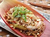 Banana flower salad evokes taste of home