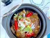 Caramelised mackerel stew