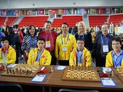Việt Nam's teams tie with strong teams at Chess Olympiad