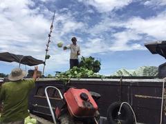 Floating market still a popular Mekong trading hub