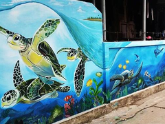 """Fresco for the Future"" wall-painting project adds life to fishing village"