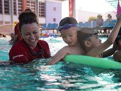 Australian volunteers saving lives one swimming lesson at a time