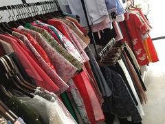 Young people shop for affordable, ready-to-wear áo dài for Tết