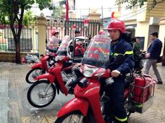 Fire bikes to the rescue in Hà Nội's small alleys