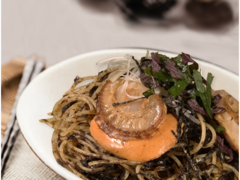 Seaweed Pasta with Scallops
