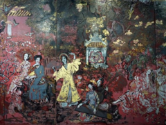 Lacquer masterpiece damaged by improper cleaning: experts