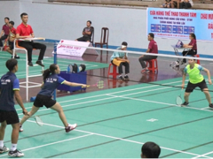 Young players compete at national badminton champs
