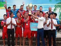 Khánh Hòa win national beach football event