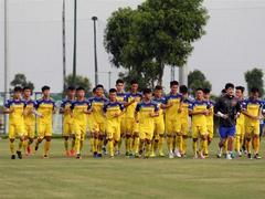 U22 Việt Nam prepare to face U22 China