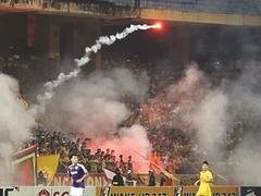 Danger of flares at football brought into focus