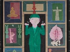 Artist displays himself in paintings