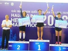 Runners pick up prizes at Halong Bay Heritage Marathon