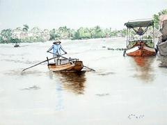 Vietnamese landscapes expressed through French tourist's eyes