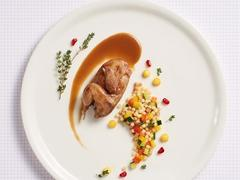 Roasted Quail And Mediterranean Fregola