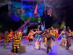 Circus show featuring fairytale to entertain children duringMid-Autumn Festival