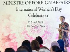 Female diplomats affirm their role in promoting gender equality and empowering women