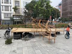 New playground set up in Đông Anh Town