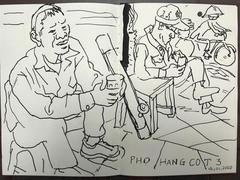 L'espace displays drawings of Hà Nội