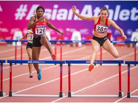 Lan wins Asian running gold medal