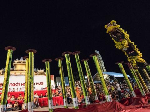 Huế holds lion dance festival for the first time