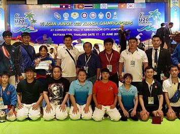 Vietnamese kurash martial artistswin at Asian champs